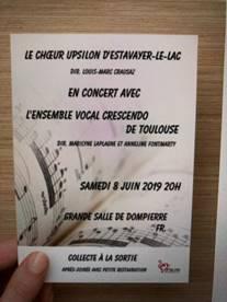 Crescendo en concert en Suisse
